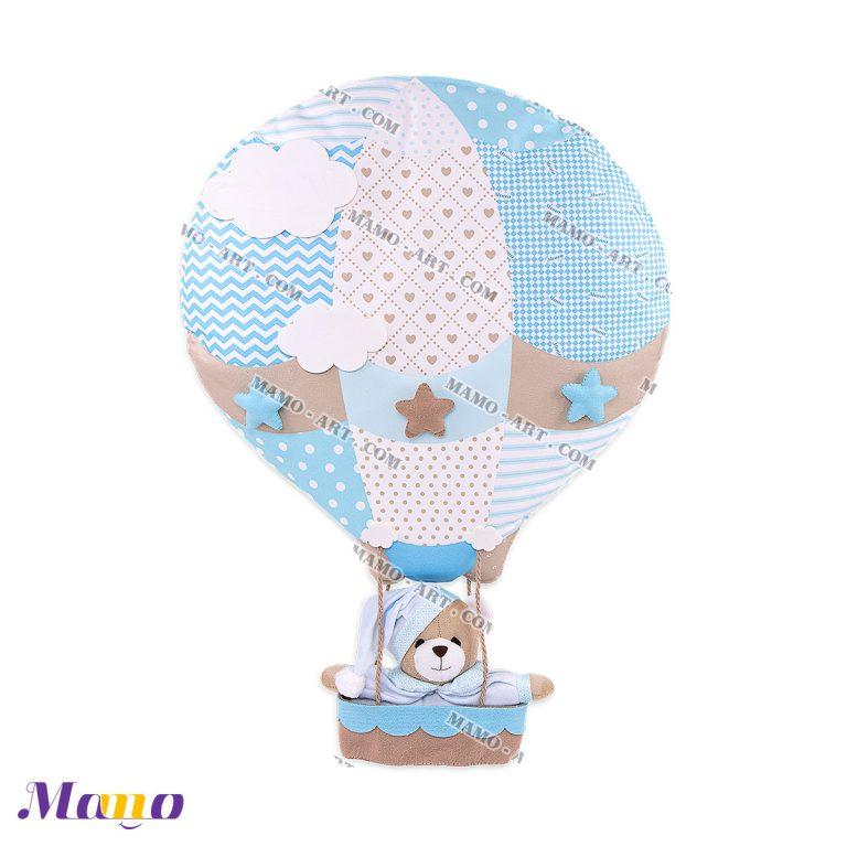 بالن عروسکی خرس مامو آبی - بهترین در سیسمونی نوزاد و دکوراسیون اتاق کودک