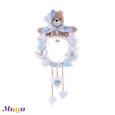 (آویز) حلقه اسم خرس مامو آبی