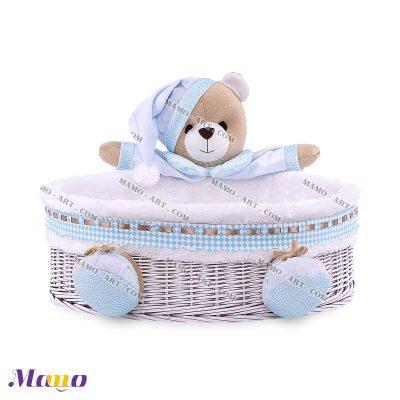 سبد لوازم بهداشتی دایره خرس مامو آبی