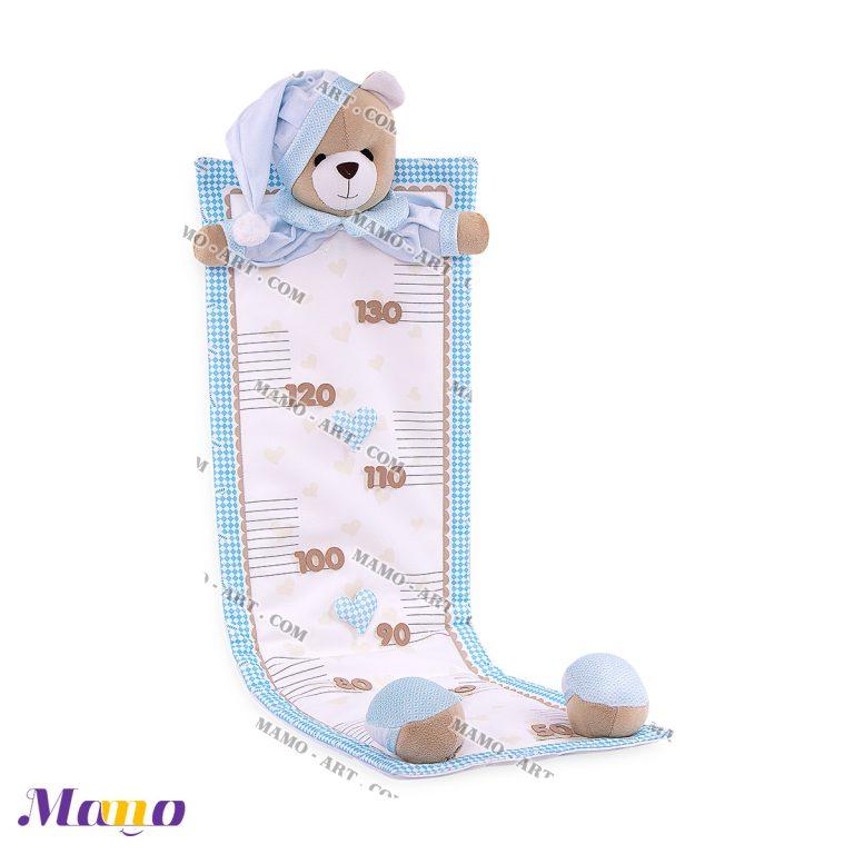 متر قد خرس مامو آبی ( نانان ) - بهترین در سیسمونی نوزاد و دکوراسیون اتاق کودک