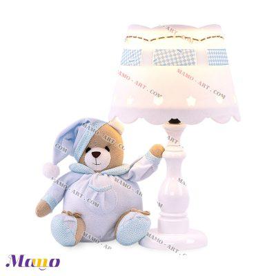 آباژور عروسکی خرس مامو آبی