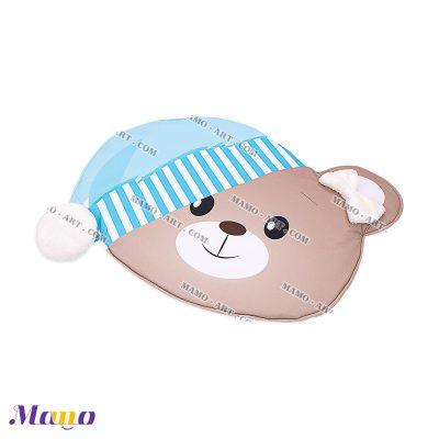 تشک ( فرش ) بازی مخمل نوزاد مامو طرح خرس آبی