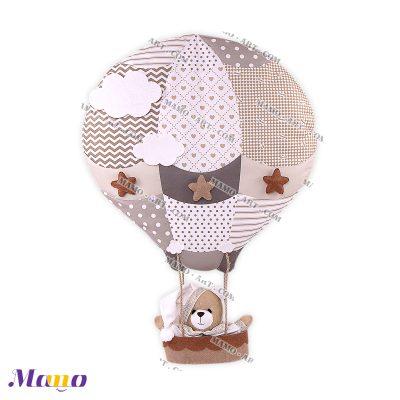 بالن عروسکی خرسی مامو کرم ( نانان ) - بهترین سیسمونی نوزاد و دکوراسیون اتاق کودک