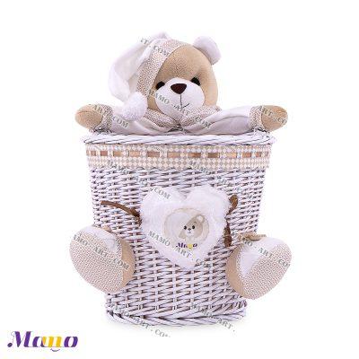 سطل زباله حصیری خرس مامو کرم