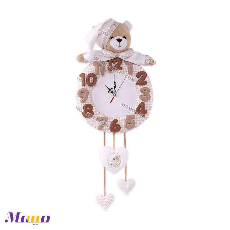 ساعت خرس مامو کرم ( نانان ) - بهترین سیسمونی نوزاد و دکوراسیون اتاق کودک