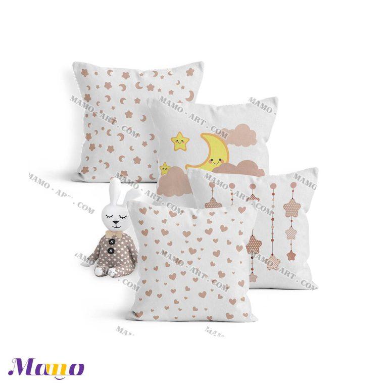 کوسن گارد محافظ تخت نوزاد اتاق کودک خرس مامو کرم - بهترین سیسمونی نوزاد و دکوراسیون اتاق کودک
