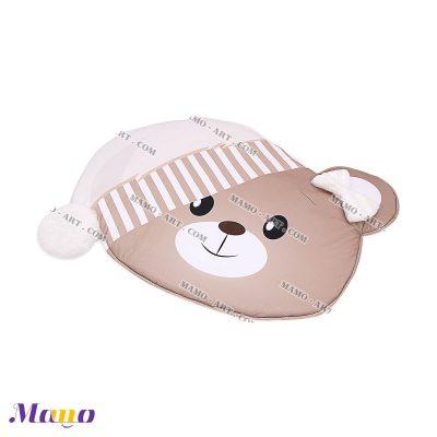 تشک ( فرش ) بازی مخمل نوزاد مامو طرح خرس کرم
