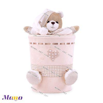 سطل زباله مخمل خرس مامو کرم