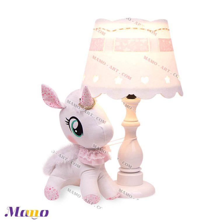 آباژور چراغ خواب اتاق کودک و نوزاد یونیکورن ( اسب تک شاخ ) مامو صورتی - بهترین سیسمونی نوزاد و دکوراسیون اتاق کودک