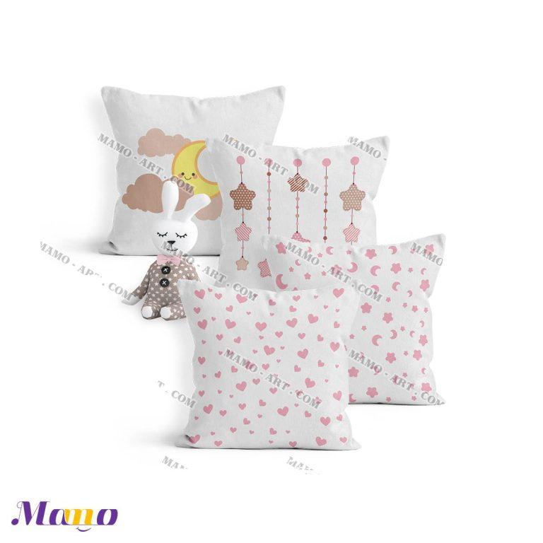 کوسن گارد محافظ تخت نوزاد اتاق کودک خرس مامو صورتی - بهترین سیسمونی نوزاد و دکوراسیون اتاق کودک
