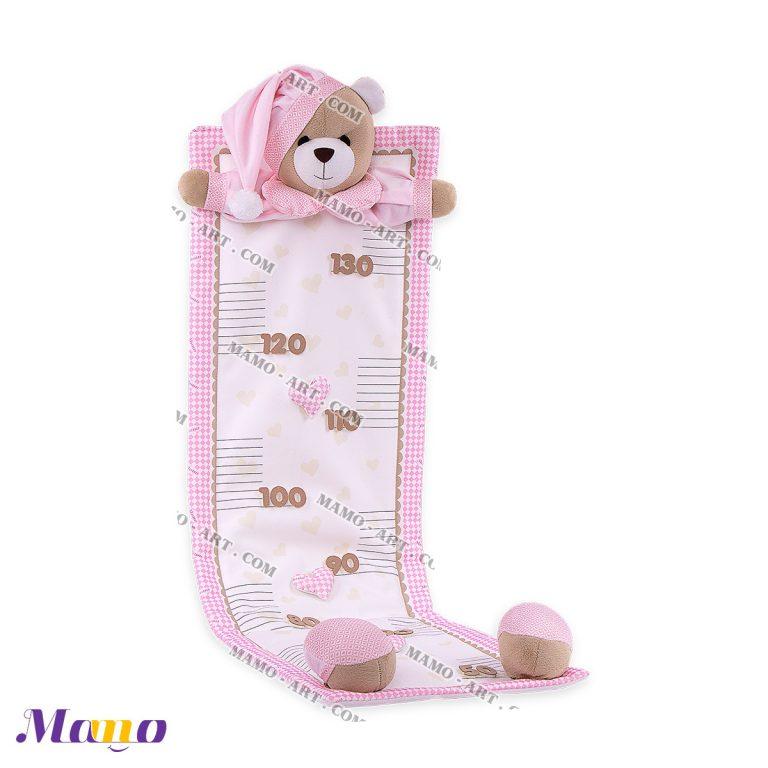متر قد خرس مامو صورتی - بهترین سیسمونی نوزاد و دکوراسیون اتاق کودک