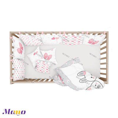سرویس خواب نوزاد خرگوش مامو صورتی