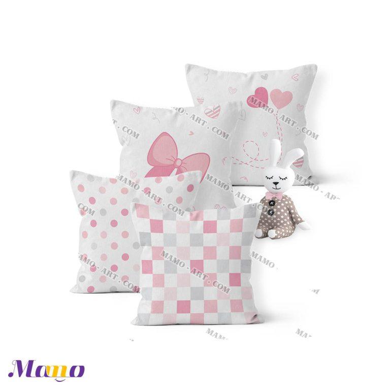 کوسن گارد محافظ تخت نوزاد اتاق کودک خرگوش مامو صورتی - بهترین سیسمونی نوزاد و دکوراسیون اتاق کودک