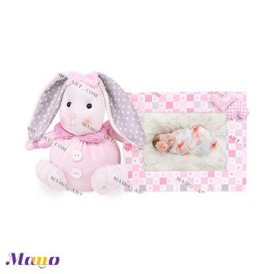 قاب عکس خرگوش مامو صورتی