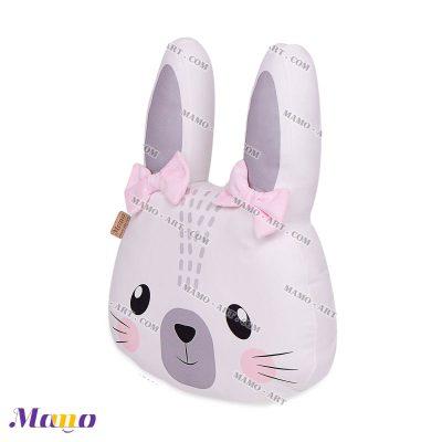 کوسن عروسکی مخمل خرگوش مامو صورتی