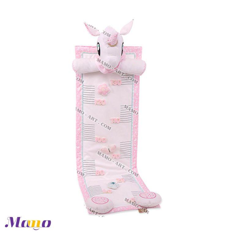 متر قد فانتزی عروسکی مخمل کودک و نوزاد یونیکورن ( اسب تک شاخ ) مامو صورتی - بهترین سیسمونی نوزاد و دکوراسیون اتاق کودک