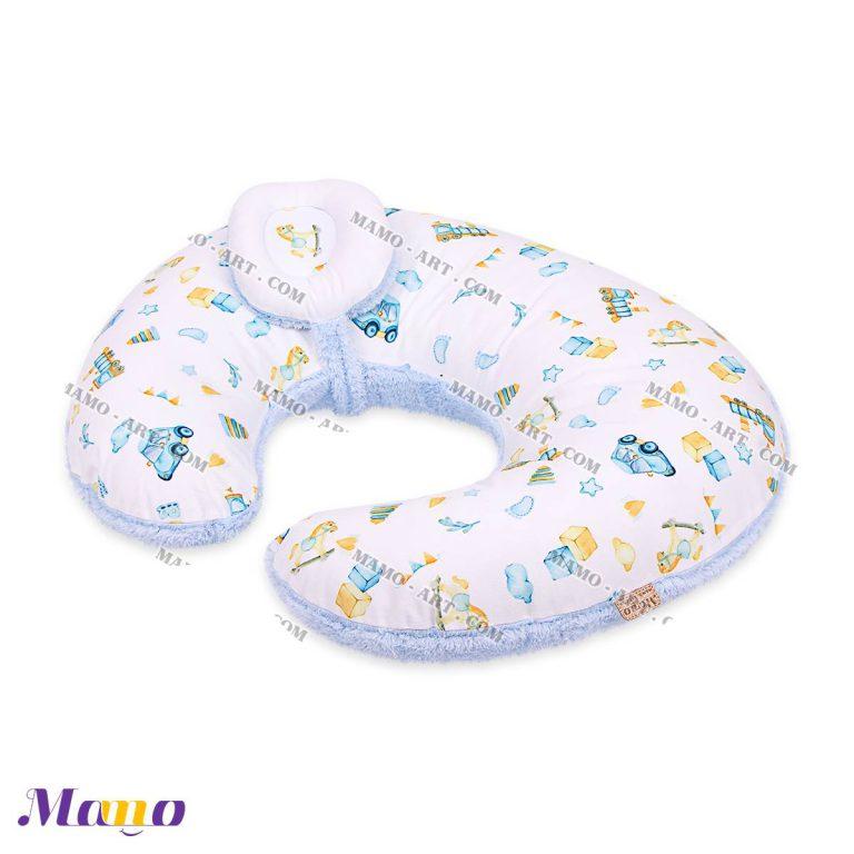 بالش شیردهی تمام مخمل نوزاد کودک مامو طرح رامان - بهترین سیسمونی نوزاد و دکوراسیون اتاق کودک