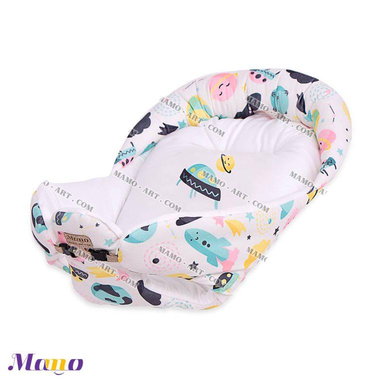 آغوشی یا آغوشگیر ( قنداق فرنگی سوییسی ) تمام مخمل نوزاد کودک مامو طرح یوفو - بهترین سیسمونی نوزاد و دکوراسیون اتاق کودک