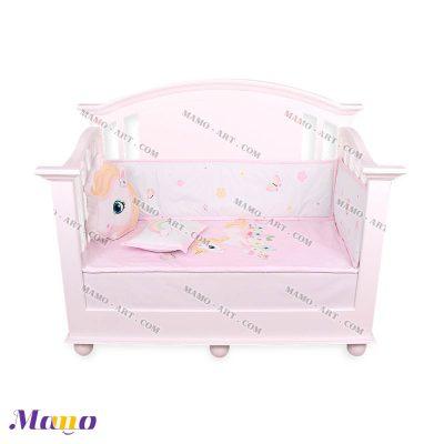 سرویس خواب نوزاد یونیکورن مامو صورتی