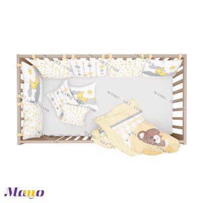 سرویس خواب نوزاد خرس مامو لیمویی