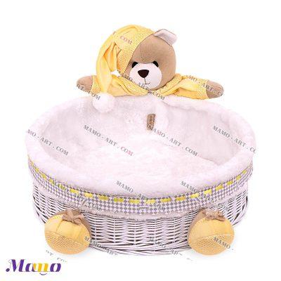 سبد لوازم بهداشتی دایره خرس مامو لیمویی