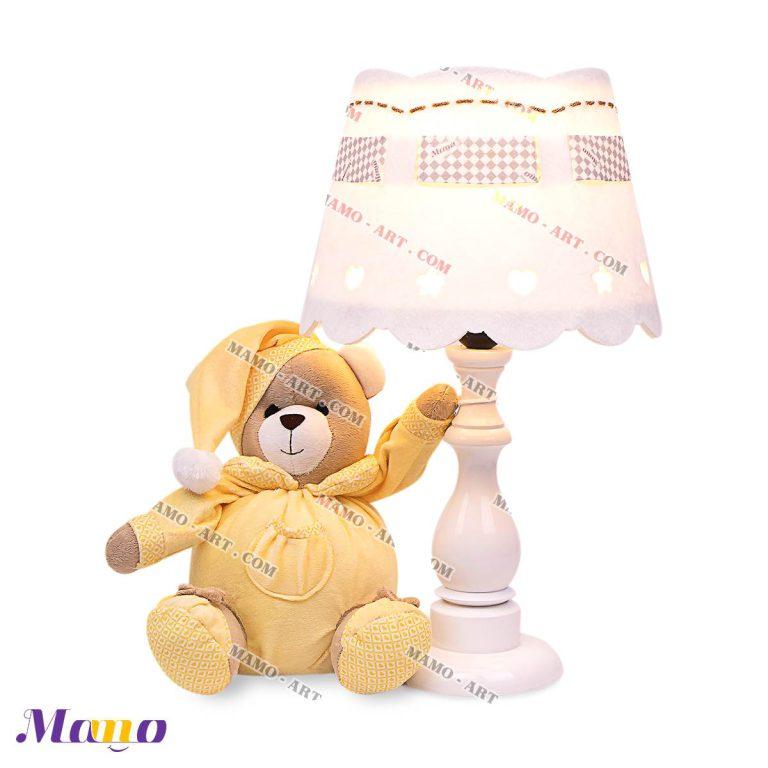 آباژور چراغ خواب نوزاد اتاق کودک خرس مامو لیمویی - بهترین سیسمونی نوزاد و دکوراسیون اتاق کودک
