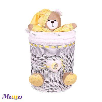 سبد استوانه متوسط خرس مامو لیمویی