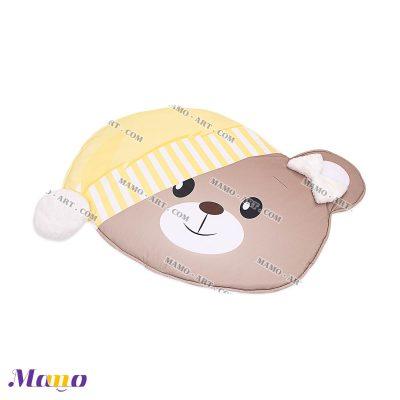 تشک ( فرش ) بازی مخمل نوزاد مامو طرح خرس لیمویی