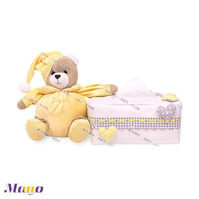 کاور دستمال مستطیل خرس مامو لیمویی