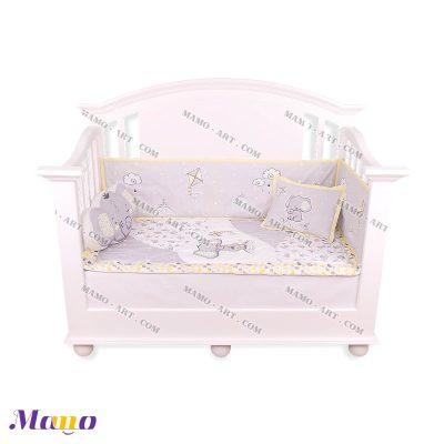 سرویس خواب مخمل نوزاد فیل مامو لیمویی