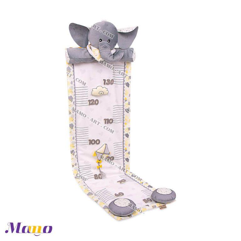 متر قد مخمل فانتزی عروسکی مخمل ( دخترانه پسرانه ) اتاق کودک طرح فیل مامو لیمویی - بهترین سیسمونی نوزاد و دکوراسیون اتاق کودک