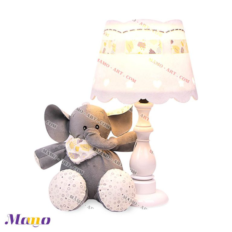 آباژور چراغ خواب اتاق کودک طرح فیل مامو لیمویی - بهترین سیسمونی نوزاد و دکوراسیون اتاق کودک